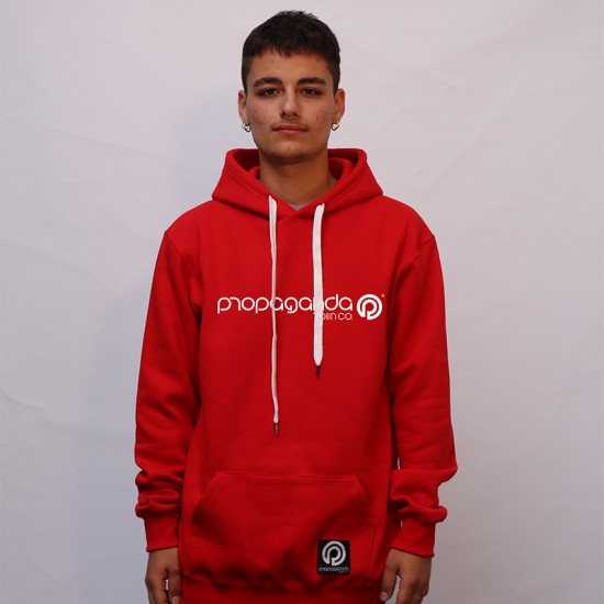 Classic Logotype Hoodie Red